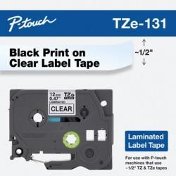 Brother TZe131 cinta para impresora de etiquetas Negro sobre transparente TZe