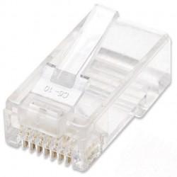 Intellinet 502344 conector RJ-45 Transparente