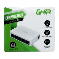 Switch Ghia 5 Puertos Rj45...